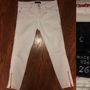 Anthropologie White Ankle Skinny Jeans